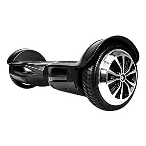 SWAGTRON T3 Premium Hoverboard - Built-In Bluetooth Speaker & Lights, Personalize Experience via Android/IOS App (Black)