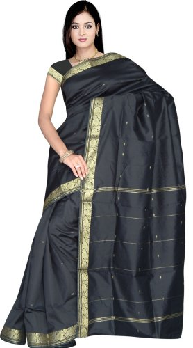 Indian Women's Traditional Art Silk Saree Sari Drape Skirt Top Veil Fabric