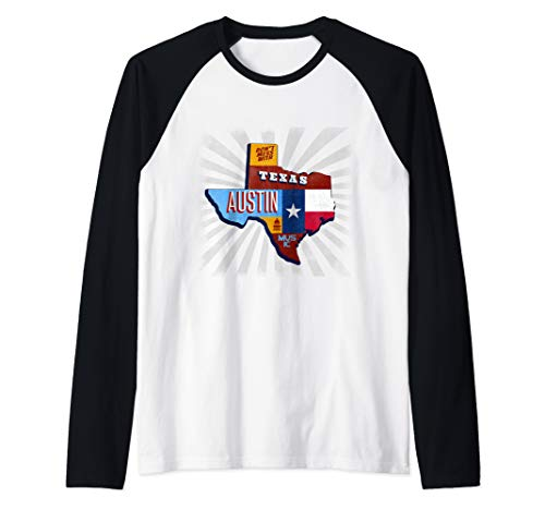 (Texas Funny Music Festival Don't Mess With Austin Raglan Baseball Tee)