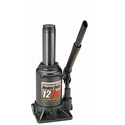 12 Ton Hydraulic Low Profile Heavy Duty Bottle Jack from TNM by Pittsburgh Automotive