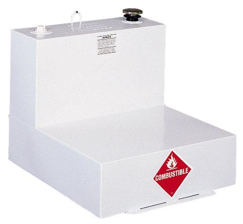 Delta 482000 51 Gallon White L-Shaped Steel Liquid Transfer Tank for Trucks