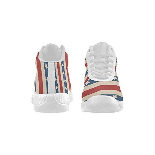 D-histoire Américain Patriotique Étoiles Et Rayures Chaussures De Basket-ball Chaussures De Course Boost Sneakers