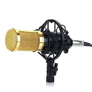 excelvan bm 800 condenser microphone sound recording dynamic mic shock mount. Black Bedroom Furniture Sets. Home Design Ideas
