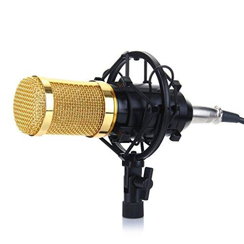 Excelvan BM-800 Cardioid Condenser Sound Studio Recording Microphone Mic with Shock Mount for Studio Recording