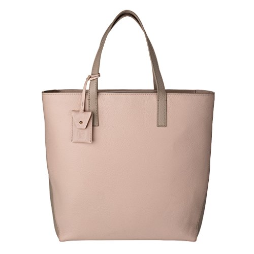 DUDU Shopping Bag donna Shopper grande in Vera Pelle a 2 manici Borsa a tracolla regolabile e staccabile Nude/Sabbia