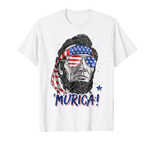 2d812faba Merica Abe Lincoln T shirt 4th of July American Flag Murica - Buy Online in  Oman. | Apparel Products in Oman - See Prices, Reviews and Free Delivery in  ...