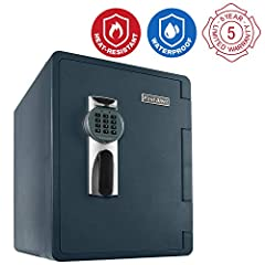 Safeguard your valuables against theft, water, and fire with the First Alert 2096DF Waterproof and Fire-Resistant Digital Safe. This waterproof safe comes equipped with a programmable digital lock that you can program with your own three- to ...