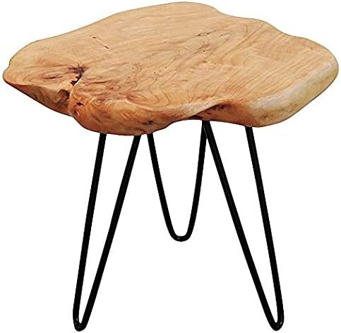 Live Edge Side Table with Hairpin Legs by Welland from Amazon.com | Designer Finds: Bringing Natural Elements Into Your Home | Jade and Sage Interior Design | eDesign Tribe Blogs