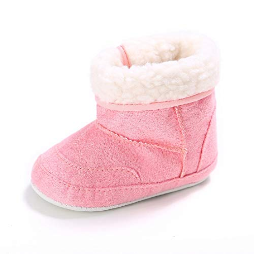 Pictures of Fnnetiana Unisex Baby Soft Sole Anti-Slip Dark Pink 1