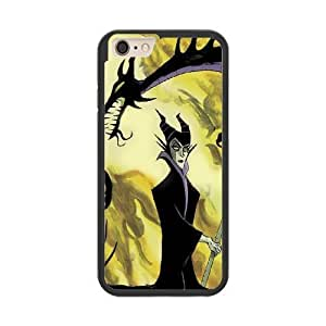 The best gift for Halloween and Christmas iPhone 6 plus 5.5 inch Cell Phone Case Black Freak badass Maleficent Sleeping Beauty by disney villains VIK9172618