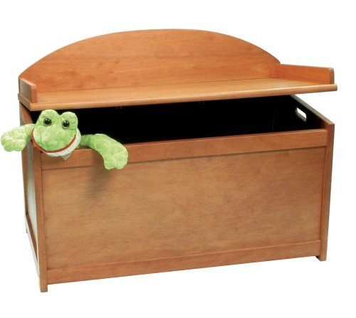 Lipper International 598P Child's Toy Chest, 33.25'' W x 17.75'' D x 24.5'' H, Pecan Finish