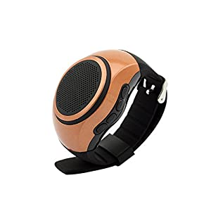 SVPRO Portable Wireless Bluetooth Speaker Watch,Multi-functional Bracelet with MP3 Music Player,Hands-free call,Radio,Self-timer,Supporting USB,TF Card Taking Photoes (B20, brown)