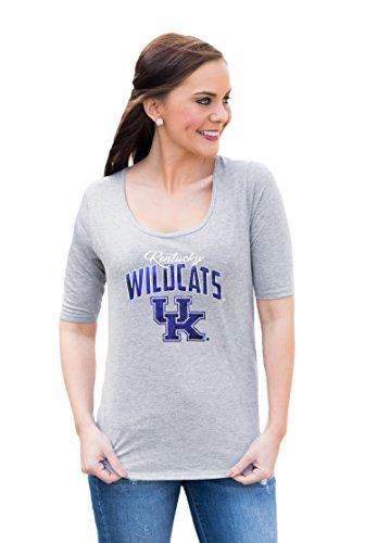 NCAA Kentucky Wildcats Women's Half Sleeve tee with logo, X-Large, Gray]()