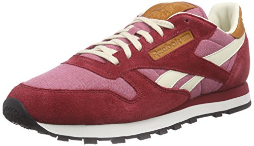 Reebok Classic Leather Chambray - Zapatillas para hombre Rojo (triathlon red/paperwhite/chalk/black)