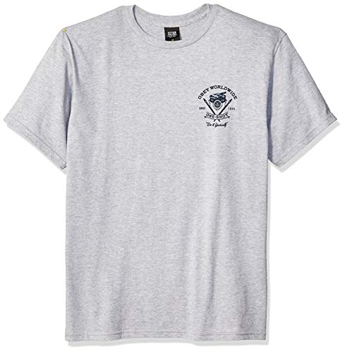 Obey Men's ONE-Shot Basic SS TEE, Heather Grey, Small