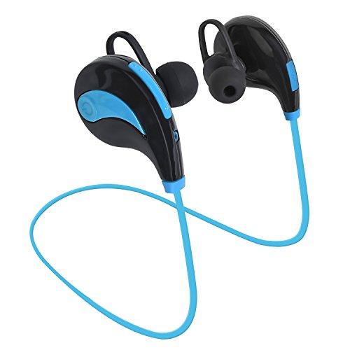 Bluetooth Headphones Cheap Wireless headsets in-Ear Sports Earbuds Sweatproof Noise Canceling HiFi Stereo Heavy Bass Earphones Mic Car Outdoor Gym Running Jogging Men Women (Blue)