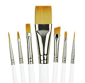 Royal Gold Royal and Langnickel Short Handle Paint Brush Set, Specialty, 7-Piece