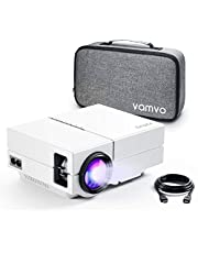 "Vamvo Movie Projector, Portable Projector with Dolby Digital Plus Support 1080P 200"" Display, Compatible with Fire TV Stick/PS4, Video Outdoor Projector for Phone with HDMI, VGA, SD/TF, AV, USB and RC"