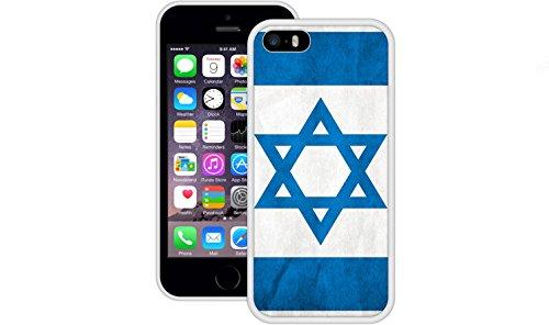 Israel Flagge | Handgefertigt | iPhone 5 5s SE | Weiß TPU Hülle