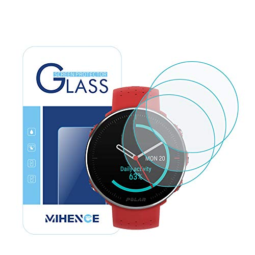 【3PCS】 for Polar Vantage M Tempered Glass Screen Protector, 9H Premium Real Screen Protector for Polar Vantage M Watch Anti Scratch Protector