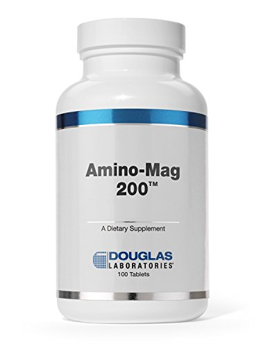 Douglas Laboratories® - Amino-Mag 200 - Magnesium Supplement Supports Muscles, Heart, Metabolism, Enzymatic Activity, and Skeletal Strength* - 100 Tablets