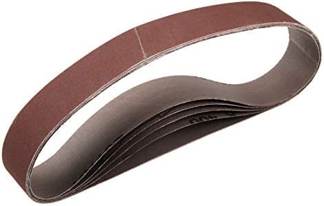 1 Inch X 21 Inch Aluminum Oxide Sand Belts 400 Grain Sandpaper Belts für 5 Piece Belt Sander