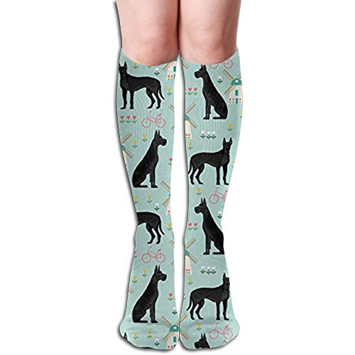 - Tuooluo Xmas Great Dane Windmill Compression Socks,Knee High Socks,Funny Socks Women Men - Best Medical,Sports,Running,Nurses,Maternity, Pregnancy,Travel & Flight Socks