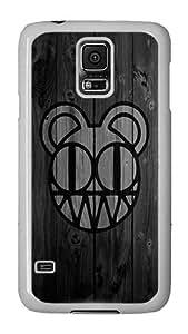 Samsung Galaxy S5 Case, Galaxy S5 Cover - Radiohead Black PC Plastic Hard Shell Case Snap On Back Cover for Samsung Galaxy S5 I9600 White