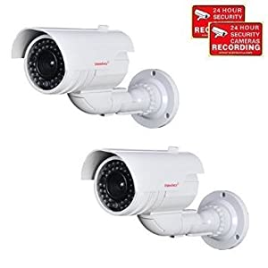 1. VideoSecu Fake Dummy Imitation Bullet Security Cameras Simulated Decoy