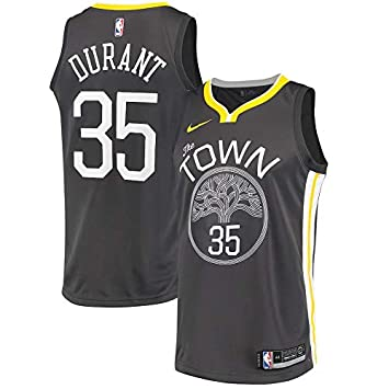 Jersey Outlet N-B-A GS Kevin-Durant 35 Swingman Men Jersey (Carbón, XXL)