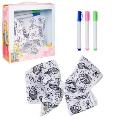 Nickelodeon JoJo Siwa Color-In Hair Bow With 3 Colored Markers -