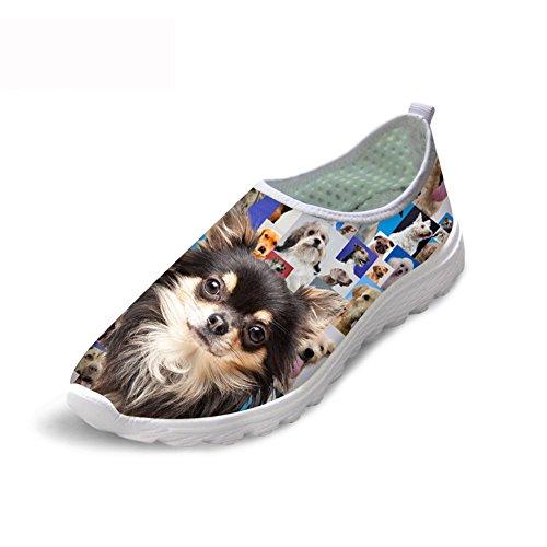 頑丈液体時計回りThiKin スポーツシューズ レディース メッシュ シューズ 通気 軽量 犬 柄 トラベル ランニングシューズ 3Dプリント クッション性 カジュアル 靴 おしゃれ ファッション 通勤 通学 プレゼント