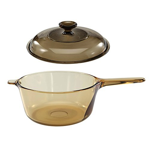 Corning Vision Visions 2.5L Covered Saucepan with -