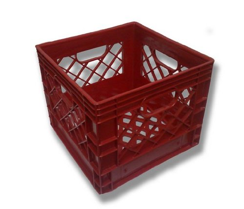Authentic 13x13x11 4 Gallon 16 Quart Square Dairy Milk Crate (RED) Dcrates R1311