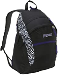 JanSport Wasabi Backpack (Black/White Cosmo Zebra Poly)