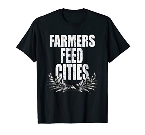 Farmers Tshirt Cattle Produce Wheat Dairy Feed Cities