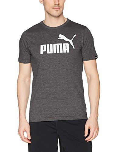 PUMA Men's Ess No 1 Heather T- Shirt, Cotton Black- Heather, M