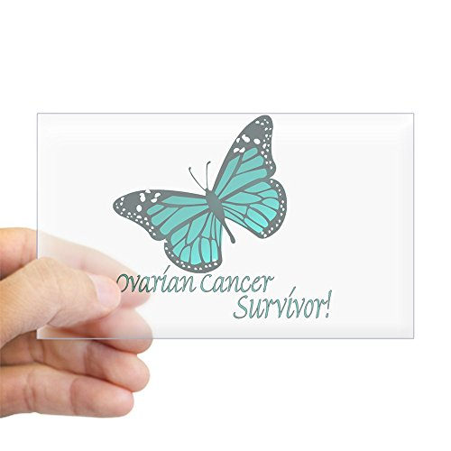 CafePress - Ovarian Cancer Survivor Rectangle Sticker - Rectangle Bumper Sticker Car Decal