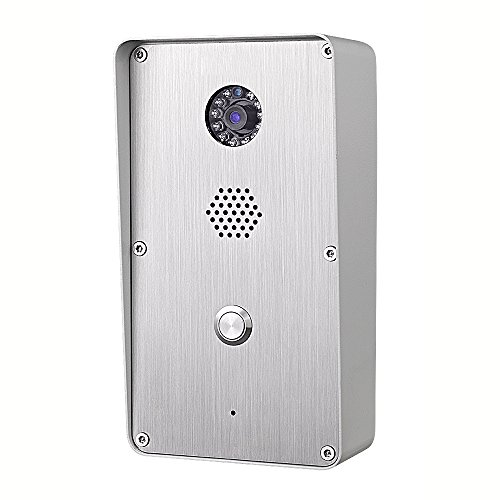 KNTECH KNZD-47 Out Door Used Sip Video Door Phone with Camera /Microphone,Grey (Sip Extension)