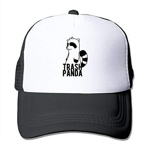 Mesh Hat Trash Panda Cartoon Cute Snapback Hats Unisex Cap -