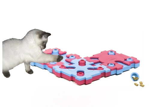 Nina Ottosson Mix Max Treat Puzzle Game for Cats, Easy Level, My Pet Supplies