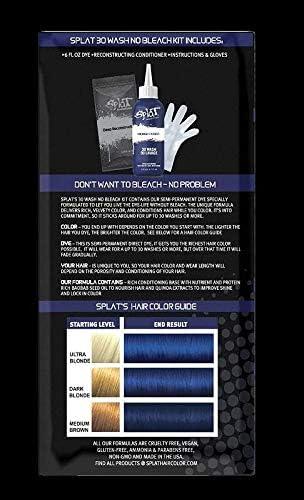 Splat 30 Wash No Bleach formula (Midnight Indigo)