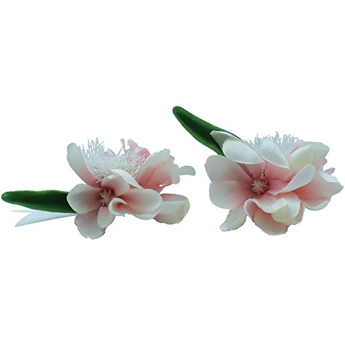 Abbie Home Real Touch Prom Corsage Boutonniere Set Flower Pin Wristlet for Party (X004PI) ()