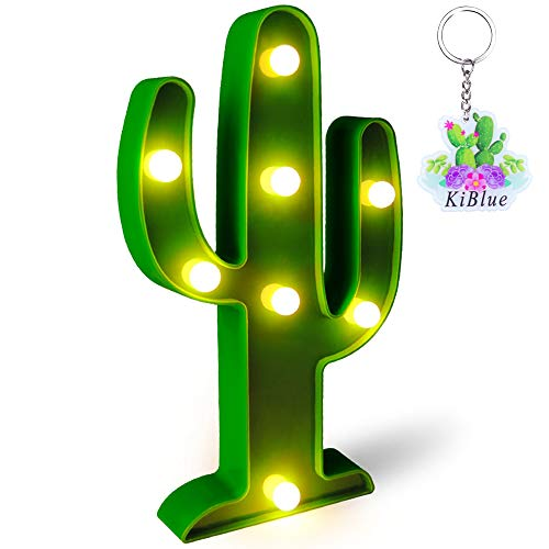 Cactus Light Cactus Lamp Cactus Party Decorations Led Lights for Room Cactus Night Light Battery Operated for Party Supplies-Wall Decoration for Kids' Room,Living ()