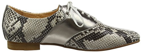 Giudecca Jycx15pr5-1 - Zapatos de cordones brogue Mujer Multicolor - Mehrfarbig (Cream-colored/gun color)