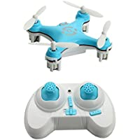 AICase Cheerson CX-10 29mm 4 Channel 2.4GHz Radio Control RC Mini Quadcopter Helicopter Drone 6-Axis Gyro UFO with LED Flash Light (Blue)