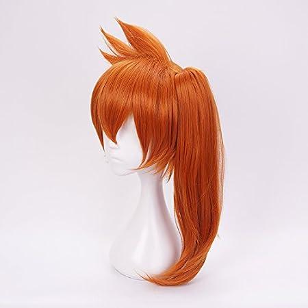 Ani/·Lnc Anime Cosplay peluca pelucas sint/éticas de pelo corto azul para hombres
