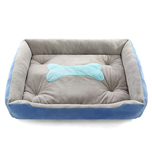 Plus Size Dog Bed Mattress Thickening Warm Pet Bed Mat Available All Seasons Big Size Extra Large Dog Bed House Sofa,Blue,85X66X15Cm - Chip Maroon
