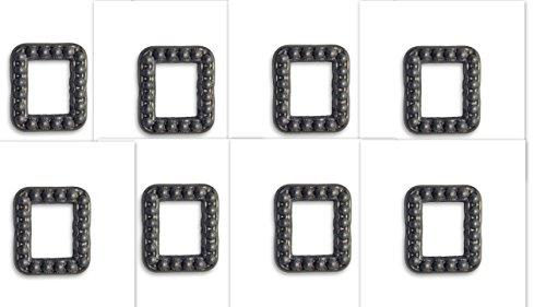8 Vintaj ADV018 Marcasite Frame Decorivet 20x18mm, Black Arte Metal for Jewelry making, Leatherworking, Scrapbooking,
