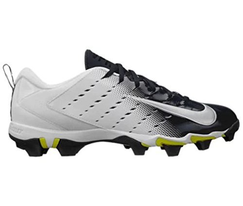 NIKE Men's Vapor Shark 3 Football Cleats (7, White/Black)